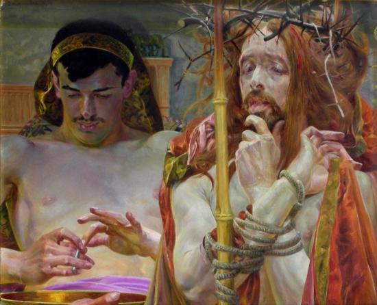 Jacek-Malczewski-Chrystus-przed-Piłatem-1910