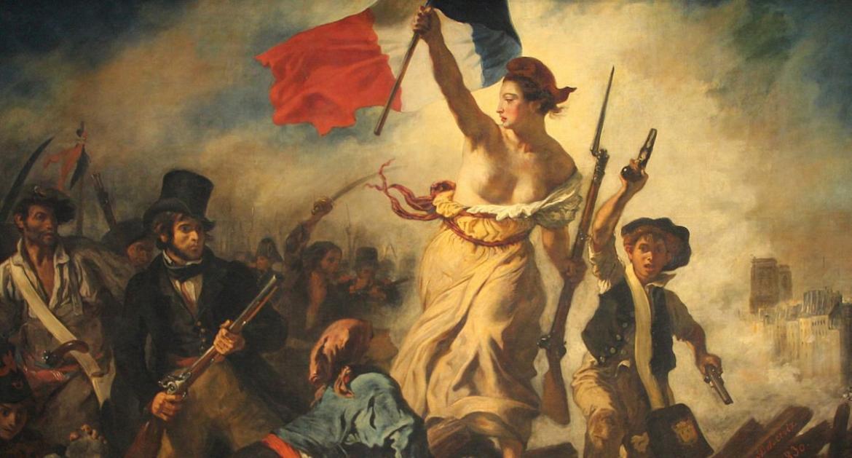 Wolnosc wiodaca lud na barykady - Delacroix