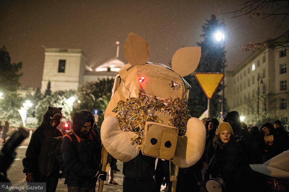 z24347025V,Demonstracja-przed-Sejmem-w-obronie-dzikow