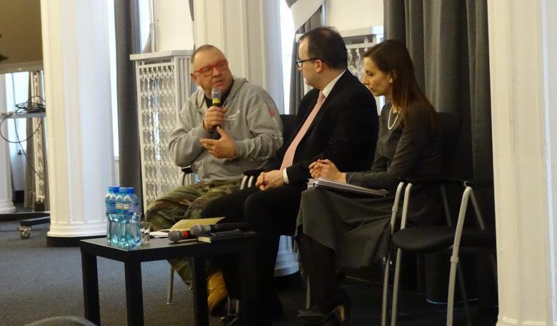 spotkanie o mowie nienawiści 25-01-16 - RPO dr Sputek i Jurek Owsiak